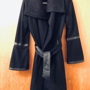 Miss 60 Wool and Leather Coat